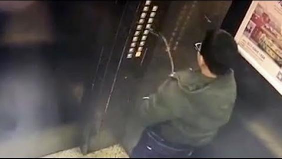 Karma iski - hississä virtsannut poika jäi ansaan! Katso video!