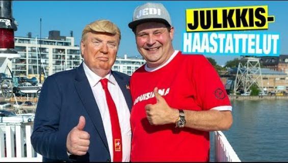"""Donald Trumpin kohuttu kaksoisolento ampaisi Jethro Rostedtin kanssa kaljalle - """"Tunnistin sinut heti Diilistä!"""" Katso hulvaton video!"""