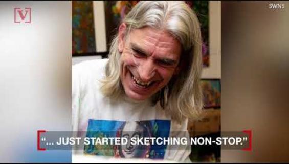 Korjaaja ei osannut piirtää - sai aivohalvauksen ja heräsi taiteilijana! Katso video!
