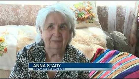 95-vuotias nainen ajoi karhun kahdesti ulos kotoaan! Katso video!
