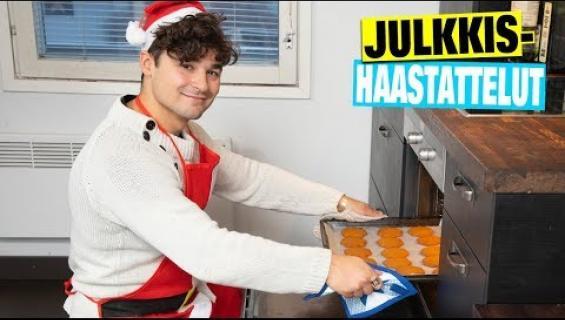 Kiireinen tangokuningas Amadeus Lundberg leipoo joulun piparit ja tortut valmiiksi – video!