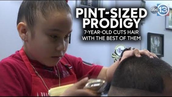 Tämä 7-vuotias parturi on aivan uskomaton lahjakkuus - katso huima video!
