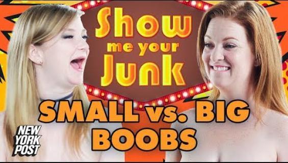 Isot vai pienet? Naiset tutkailevat toistensa rintoja ja puhuvat koosta - katso video!
