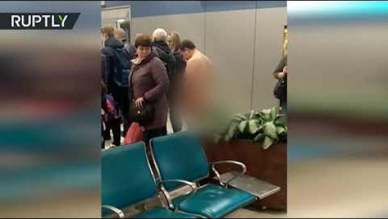 """Venäläismies pyrki lentokoneeseen alasti mutta päätyikin sairaalaan: """"Hän oli alasti, koska vaatteet heikentävät kehon aerodynamiikkaa!"""""""