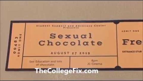 """Yliopisto sparrasi fukseja puheella: """"Käyttäkää suklaata seksileikeissä!"""""""