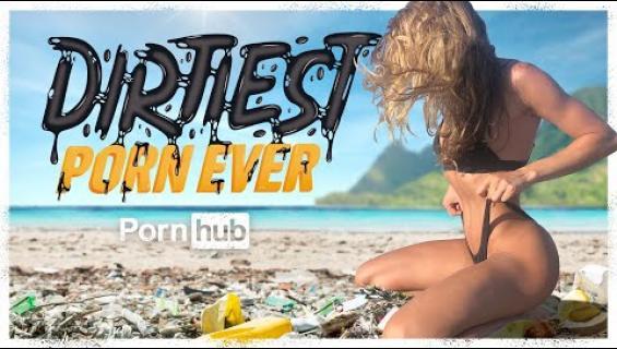 PornHub alkoi taiston merten muoviroskaa vastaan! Kampanjavideolla pariskunta harrastaa seksiä todella törkyisellä rannalla - katso!