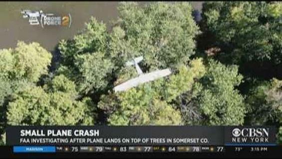 Pienkoneen lento meni puihin ja pilotti odotteli pelastajiaan latvoissa neljä tuntia!
