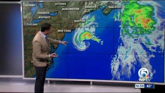 Melissa-myrskyn fallosmainen muoto naurattaa Twitterissä!