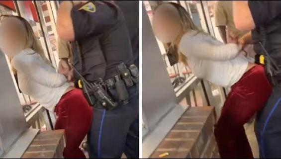 Pidätysvideosta viraali - nainen hetkutti poliisille!