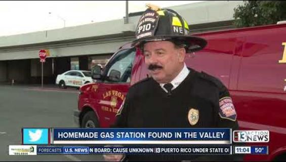 Räjähdysvaara! Joku rakensi oman bensa-aseman takapihalleen Las Vegasissa!