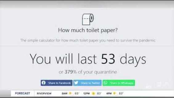 Kuinka paljon menee?  Tämä saitti laskee wc-paperintarpeesi!
