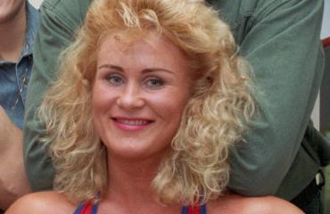 Gladiaattori Salama eli Marjo Krishi vuonna 1992.