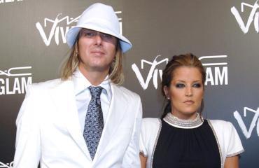 Lisa Marie Presley ja ex-puolisonsa Michael Lockwood.