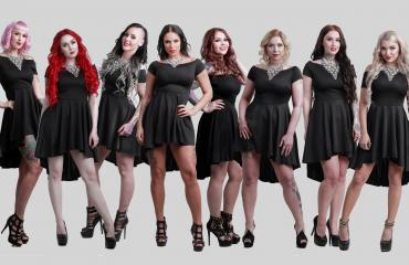Miss Rock -finalistien promokuva