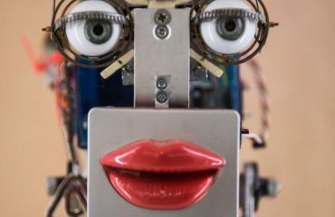 Mie rakensi itselleen robottimorsiamen.