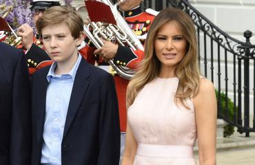 Melania ja Barron Trump