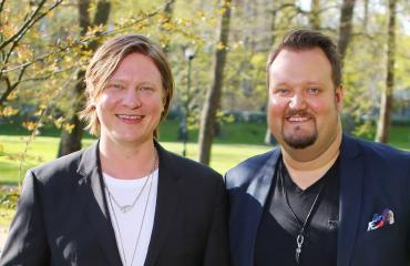Jaajo Linnonmaa ja Sami Hedberg