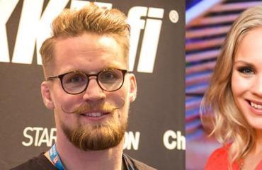 Eevi Teittinen ja Teemu Packalén seurustelevat.