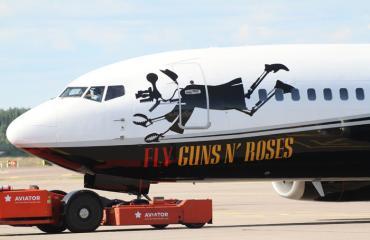 Guns N´Roses -yhtyeen lentokone