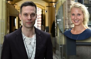 Mikko Nousiainen ja Linda Wiklund.