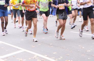 Maraton kiihotti miestä.