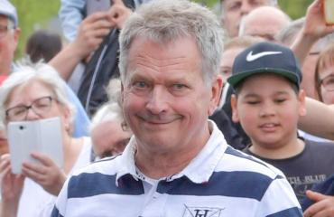 Sauli Niinistö oli TPS:n pelissä.