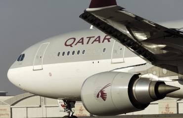 Qatarin kone joutui tekemään hätälaskun.
