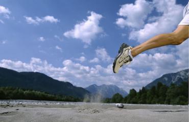 Mies on juossut yli 2000 maratonia.