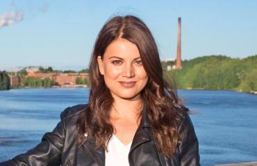 Janni Hussi nautti kesästä.