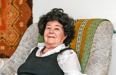 Leena Pennanen sai sohvan.