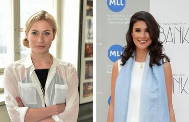Minka Kuustonen ja Maryam Razavi nauttivat miehineen kesästä.