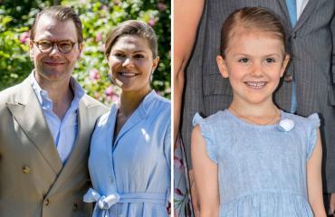 Ruotsin kruununprinsessapari Victoria ja Daniel ja prinsessa Estelle