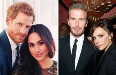 Prinssi Harry, Meghan Markle, David ja Victoria Beckham