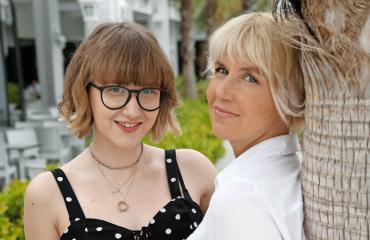 Terhi Alanyan Lara-tytär on ylpeä äidistään.