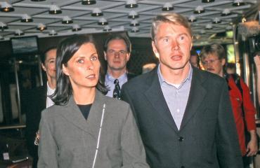 Mika Häkkinen ja Erja avioituivat 20 vuotta sitten.