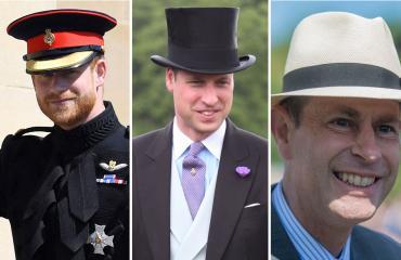 Ison-Britannian prinssi Harry, prinssi William ja prinssi Edward