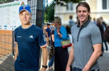 Mikael Granlund ja Erik Haula viihtyivät baarissa aamuun.