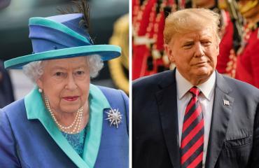 Ison-Britannian kuningatar Elisabet ja presidentti Donald Trump