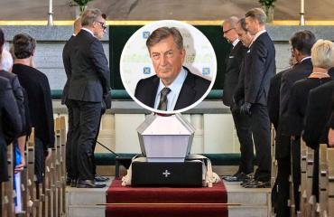 Tapani Perttu haudattiin Tampereella.