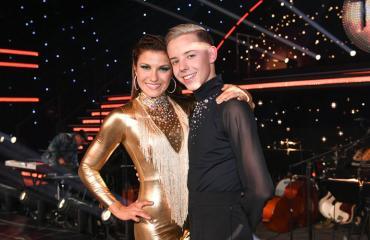 Tuure Boelius Ansku Bergströmin kanssa Tanssii tähtien kanssa -kisassa.