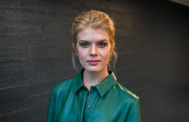 Alina Tomnikov tekee tv-ohjelmaa Lauri-rakkaansa kanssa.