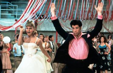 Grease-elokuvan tähdet vuonna 1978.