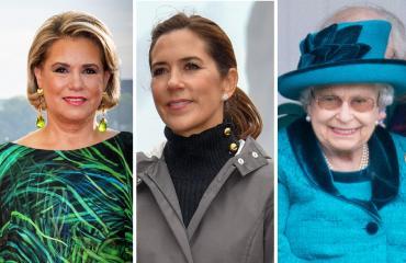 Luxemburgin suurherttuatar Maria Teresa, Tanskan kruununprinsessa Mary ja Ison-Britannian kuningatar Elisabet