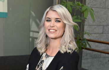 Susanna Koski nautti pikalounaan lentokentällä.