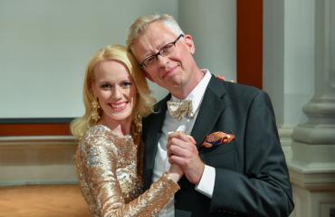 Pekka Pouta ja Jutta Helenius Tanssii tähtien kanssa -ohjelmassa.