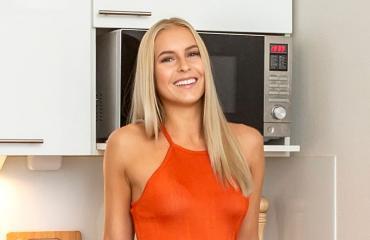 Alina Voronkova asuu miniyksiössä.