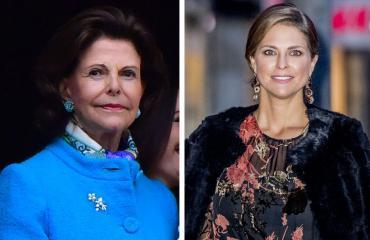 Ruotsin kuningatar Silvia ja prinsessa Madeleine