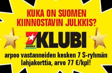 Kuka on Suomen mielenkiintoisin julkkis?