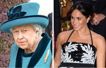 Kuningatar Elisabet ja Sussexin herttuatar Meghan