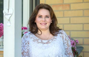 Nina Mikkonen lastensa omaishoitaja.